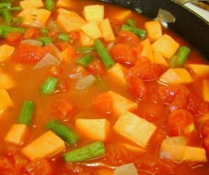 Tunisian sweet potato stew