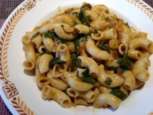 Creamy Chili Sauce with Zucchini,  Spinach & Pasta
